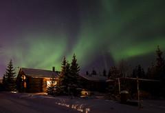 Northern lights (liuskaa) Tags: aurora borealis northern lights night winter light snow cold finland holiday home cottage
