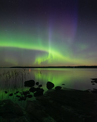 Season started! (laurilehtophotography) Tags: suomi finland lievestuore majasaari northernlights auroras auroraborealis nature landscape nightscape night longexposure sky stars starrysky fall autumn lake reflections nikon d750 sigma 20mm art benro