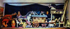 Playing Horsey (Steve Taylor (Photography)) Tags: horse caravan doll wagon digitalart toy uk gb england greatbritain unitedkingdom london pollockstoymuseum antique