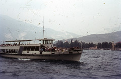 Passing boat (Arne Kuilman) Tags: slides dias lostandfound found holiday 1966 dutch family epson scan 1200dpi