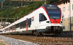 SBB (Tilo), 524 015-0 (Thomas Naas Photography) Tags: schweiz switzerland eisenbahn railways zug züge train lokomotiven lokomotives fahrzeuge outdoor capolagoriva san vitale stadler flirt etr524 rabe sbb tilo