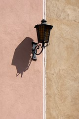 lamp (fotomie2009) Tags: calizzano 2019 08 lampione street lamp shadow ombra verticality verticale linea divisione half pastel 30 minimal