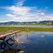 Blauer Himmel über der Donau