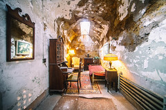 Al Capone's Prison Cell (Thomas Hawk) Tags: alcaponsprisoncell alcapone america easternstatepenitentiary pennsylvania philadelphia philly usa unitedstates unitedstatesofamerica abandoned jail penitentiary prison fav10 fav25 fav50