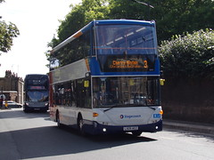 Stagecoach Scania Omnicity (Scania N230UD) 15075 LX09 AEZ (Alex S. Transport Photography) Tags: bus outdoor road vehicle stagecoach scania n230ud omnicity route3 15075 lx09aez stagecoacheast stagecoachcambus