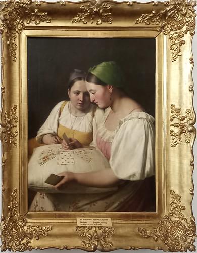 Alexei Venetsianon: 'Llamando a la fortuna con las cartas'.Museo Ruso.  San Petersburgo. Rusia