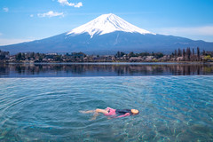 Japanese girl swimming in hotel swimming pool with Fuji mountain background (anekphoto) Tags: swimmingpool kawaguchi healthy bath fujisan onsen private yamanashi mount asia san park sakura fujiyama spa tokyo japan relax girl water cityscape landmark resort pool fuji travel mountain lake view winter landscape tourism japanese beautiful nature snow blue outdoor reflection famous volcano scenery luxury attraction health vacation swimming tourist summer city