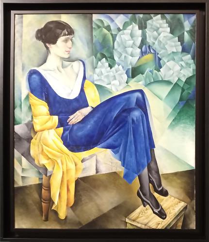 Nathan Altman: 'Retrato de Ana Akhmatova'. Museo Ruso.  San Petersburgo. Rusia