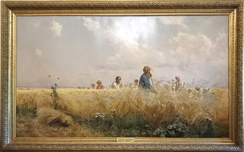 Grigory Myasoedov: 'Tiempo de cosecha (segadores)'. Museo Ruso.  San Petersburgo. Rusia