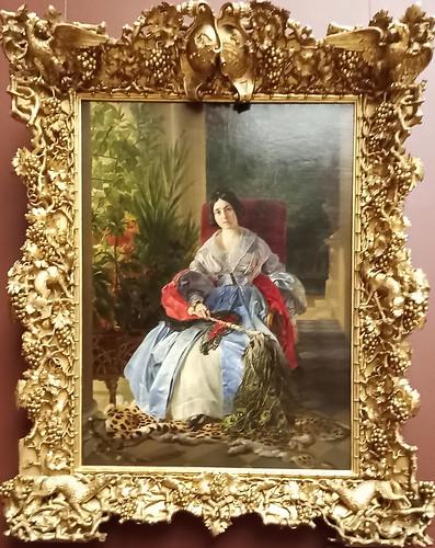 Retrato de la princesa Yelizaveta Saltykova por Karl Brullov. Museo Ruso.  San Petersburgo. Rusia