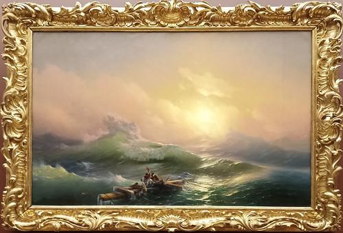 Iván Aivazovski: 'La novena ola'.  Museo Ruso.  San Petersburgo. Rusia