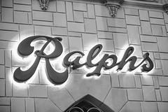 Ralphs (Thomas Hawk) Tags: america florida orlando ralphs usa unitedstates unitedstatesofamerica universal universalorlandoresort universalstudios universalstudiosflorida universalstudiosorlando bw neon neonsign fav10