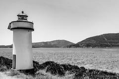 The small lighthouse... (giobertaskin) Tags: canon sardinia sardegna alghero capocaccia portoconte surreale indispensabile mare sea bw lighthouse faro small piccolo
