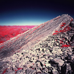 Bowfell and the Great Slab (Mark Rowell) Tags: infrared ir eir aerochrome kodak hasselblad 903 swc 6x6 120 mediumformat bowfell langdale lakedistrict cumbria uk expired film