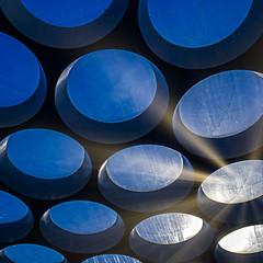 Overkapping - Hoog Catharijne - Utrecht - NL (Frans Berkelaar) Tags: modern utrecht nederland architectuur winkelcentrum modernearchitectuur netherlands shoppingmall nl lombok hoogcatharijne cityofutrecht art blue