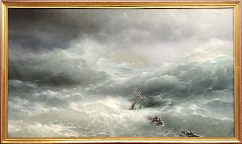 Iván Aivazovski: 'La ola'. Museo Ruso.  San Petersburgo. Rusia