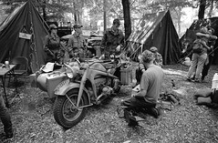 Santa Fe event 2019 (Ronald_H) Tags: santa fe event 2019 overloon war museum jch streetpan 400 black white film motorcycle wwii nikon f65
