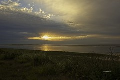 Cape Cod Sunrise Chatham MA (wfgphoto) Tags: sunrise chathamma beach water sunrays grasses