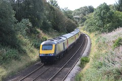 Photo of 43149 (with 43003 leading) 1T77 10:31 Aberdeen to Glasgow Queen Street; Ashfield, Dunblane; 01-09-2019