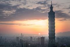 Taipei 101 (vike chang) Tags: sunset taipei101 taipei taiwan city cityscape