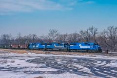 UPS at South Bethlehem (douglilly) Tags: bethlehem conrail sd50