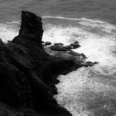 Coasting 007 (noahbw) Tags: capefalcon d5000 nikon oregon oswaldweststatepark pnw pacificnorthwest pacificocean abstract cliffs coast coastline erosion foam landscape natural noahbw ocean rock shore shoreline spring square stone water waves