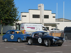 Austin A35 and AC Ace Ford (jane_sanders) Tags: goodwood westsussex sussex goodwoodrevival revival motorcircuit testing test austina35 austin a35 acaceford ac ace ford