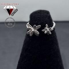 Bague fleurs des îles en argent 925 (olivier_victoria) Tags: argent 925 bague ajustable fleur unique taille ile