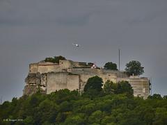 Hohenneuffen flypast (markbangert) Tags: hohenneuffen neuffen castle fortification fortress fort historic plane flight path aircraft nikon d850 fx