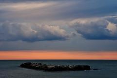 Adriatic sea (luporosso) Tags: natura nature naturaleza naturalmente nikon nikond500 nikonitalia paesaggio paesaggi landscape landscapes marche civitanovamarche adriatico mare sea nuvole clouds scogli rocks orizzonte horizon