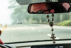 Uber 10:06 101 (savedbytheart) Tags: reflections shadows fog light rideshare crucifix san francisco
