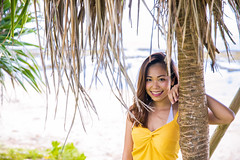 Portrait of young woman leaning on tropical tree in beach (Apricot Cafe) Tags: imgr32571 asia asianandindianethnicities japan japaneseethnicity millennialgeneration naha okinawaprefecture beach carefree casualclothing copyspace day freedom green happiness leaning leisureactivity lifestyles lookingatcamera nature oneperson oneyoungwomanonly outdoors people photography portrait realpeople sleeveless smiling summer toothysmile tourism tourist travel traveldestinations tree vacations waistup women youngadult