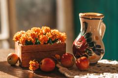 Hello September! (kinmegami) Tags: miniatureflowers miniature polymerclay autumn dollhouseminiature diorama roombox