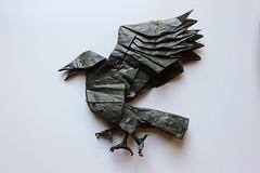 Yatagarasu (ThousandFolds) Tags: origami mythological ancient creature bird crow cool paper folding beautiful satoshi kamiya yatagarasu