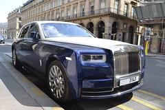 """Rolls Royce Phantom VIII """"ma première"""" (Monde-Auto Passion Photos) Tags: voiture vehicule auto automobile rollsroyce rolls royce phantom berline bicolore bleu blue white blanc castiglione france paris"""