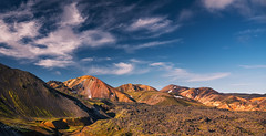Landmannalaugar (David Ruiz Luna) Tags: landmannalaugar iceland laugavegurhikingtrail populardestination traveling islandia fjallabaknaturereserve highlandsoficeland edge laugahraunlavafiel geothermalhotsprings landscape nature colorful colors mountains beautyinnature beautiful volcanic sky clouds rocks naturephotography puremagic travel europa europe trip viajar touraroundtheworld verano summer paisaje geologicalformation scenic volcano