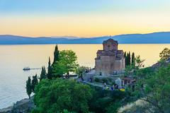 Ohrid (Dražen Kosijer) Tags: ohrid church northmacedonia lake sunset trees