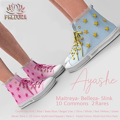 "Phedora for The Arcade - ""Ayashe"" sneakers Gacha ♥ (Celena Galli ~ phedora.) Tags: sl secondlife second life phedora 3d mesh shoes brand heels platforms shoewear womenswear pumps woman women sexy sassy stylish classy cute chic kinky kawaii fashion event monthly events original content 100mesh new release newrelease meshbody hud multihud maitreya lara belleza isis freya venus slink hourglass physique shopping shopaholic shappaholic straps ankle booties sportswear streetwear cuffs ankleboots urban sneakers arcade arcadegacha stars gacha gachamania gachaset thearcadegacha"