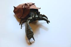 Hermit Crab (ThousandFolds) Tags: hermit crab paper origami cool beautiful art sea creature satoshi kamiya folding