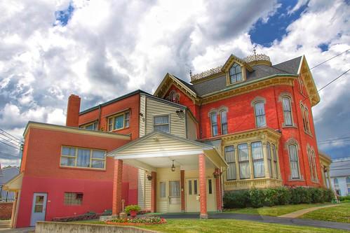 Binghamton New York ~ Earnest H. Parsons Funeral Home ~  Formerly J. Stuart Wells House ~ Historic