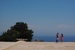 Reflection in a landscape composition (LikeTheHitter) Tags: blue sea couple composition landscape reflection riflessione composizione paesaggio blu mare coppia