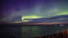 The Last Evening of August, Finland (The Quiet Wanderer) Tags: aurora borealis finland ocean stars