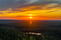 August last sunset (Arttu Uusitalo) Tags: august sunset evening late summer landscape pond clouds colorful sky woods forest sony a6500 finland kihniö kaskyvuori pirkanmaa