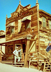 Ramshackle Saloon (fillzees) Tags: western saloon wooden historic old person street building self himself me myself lamppost