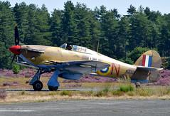 KZ321 JV-N  r [OO-HUR]  Hurricane Mk.4 RAF 6Sqn Zoersel 1001 (Kodak 260) Tags: kf321 oohur hurricane raf 6sqn preserved aviation warbirds zoersel flyinn
