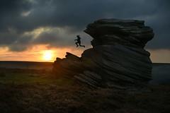 The Indian Flute Player (PentlandPirate of the North) Tags: motherscap peakdistrict dawn sunrise gritstone leap jump hoorayforbrexit pixieleap surpriseview