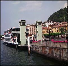 Rolleis Lake Como Experience 2019 (504) (Hans Kerensky) Tags: rolleiflex 35c 6x6 tlr fujifilm pro 160ns scanner plustek opticfilm 120 lake como italy 2019 ferry bellagio harbor mooring