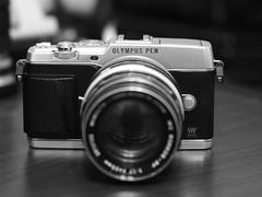 My new (to me) camera (SnapRat200) Tags: olympus epl7 monochrome rokkor rokkor55mm17 mf blackandwhite vintagelens manualfocus