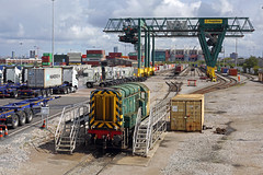 08785 Trafford Park 1st September 2019 (John Eyres) Tags: 08785 resting headshunt trafford park flt pole shot freightliner old manchester united