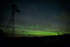 Lady Aurora (Beve Brown-Clark) Tags: auroraborealis northernlights nighttime nightsky aurora landscape windmill ©bevebrownclark washington usa
